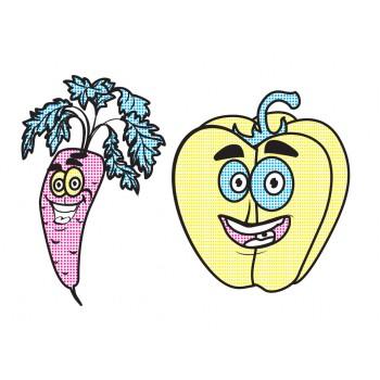 Водні розмальовочки: Веселі овочі (у)