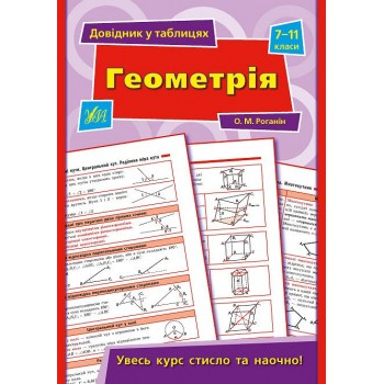 Довідник у таблицях - Геометрія. 7–11 класи