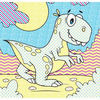 Водні розмальовочки Чарівна розмальовочка  Jumbi: Веселі Динозаврики (у)