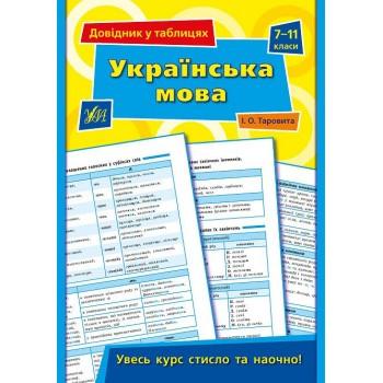 Довідник у таблицях - Українська мова. 7–11 класи