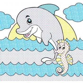 Водні розмальовочки Чарівна розмальовочка Jumbi: Морські пригоди (у)