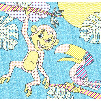 Водні розмальовочки Чарівна розмальовочка  Jumbi: Джунглі (у)