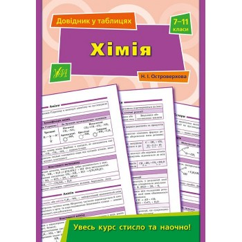 Довідник у таблицях - Хімія. 7–11 класи