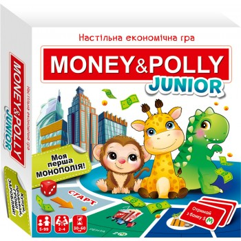 Настільна економічна гра. Money Polly. junior
